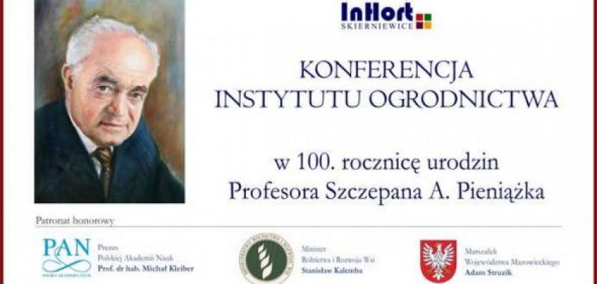 plakat dotyczący konferencji zorganizowanej przez instytut ogrodnictwa