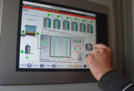 dane z biogazowni wyświetlane na monitorze