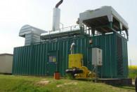 budynek biogazowni z zielonej blachy