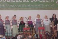 Zdjęcie przedstawia wystep Koło Gospodyń Wiejskich z Wilkowic i publiczność